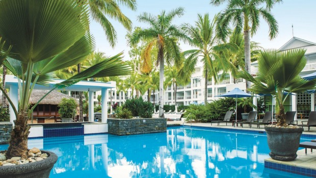 One of the pools at Palm Cove's Peppers Beach Club & Spa