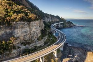 Resuming its southern fling, Lawrence Hargrave Drive twists through coastal villages north of Wollongong, skittering out ...