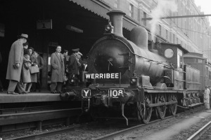 A steam train at Melbourne's Flinders Street Station. But which railway station is Australia's oldest?