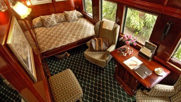 All aboard ... inside one of the suites in Rovos Rail's Cape Town to Pretoria train.