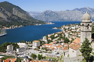 Waterwork ... a view of Kotor from the fortifications above the town.