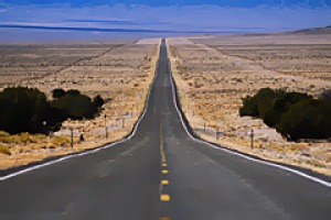 The loneliest road in America ... Highway 50.