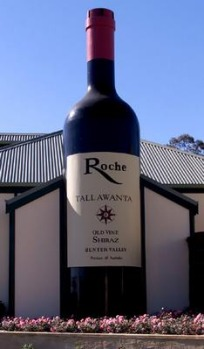 The Big Wine Bottle at Hunter Valley Gardens in NSW.