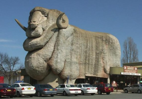 The Big Merino in Goulburn, NSW.