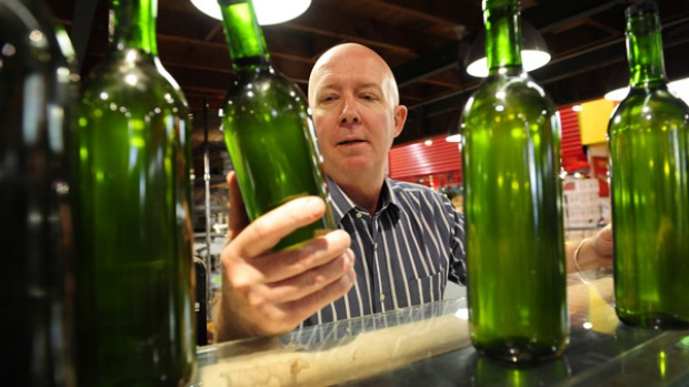 Are you hungry? Mark Gleeson from the Providore with some bottled olive oil.