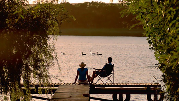Spoilt for choice ... relaxing on the Murray River