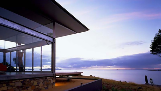 Avalon Coastal Retreat, Swansea, Tasmania. The house, which comes with its own secluded beach, has three bedrooms with ...