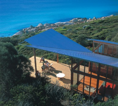 Bay of Fires Lodge, Tasmania. This iconic eco-lodge is located at the Bay of Fires, which Lonely Planet describes as the ...