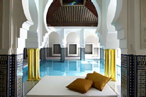 Sumptuous ... the day spa, which features Shiseido products as well as traditional Moroccan treatments.