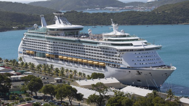 Passengers hit by gastro bug ... The Royal Caribbean International's Explorer of the Seas sits docked at Charlotte ...