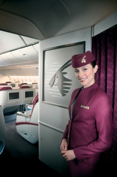 Service: Very attentive; crew address business-class passengers by name.