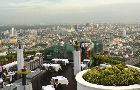 The Dome's Skybar at Sirocco, 63rd floor of State Tower.