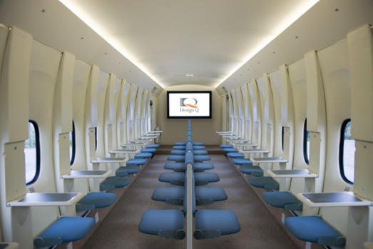 Design Q is spruiking the benefits of what it is calling the MaxCabin, a radical configuration mirroring the ...