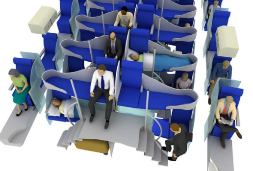 Jacob's business-class model, which creates a second storey of seats has the potential to double the capacity of ...