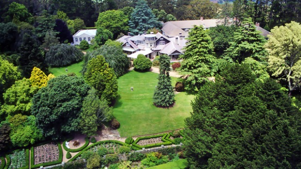 To the manor ... the Bowral hotel's expansive gardens.