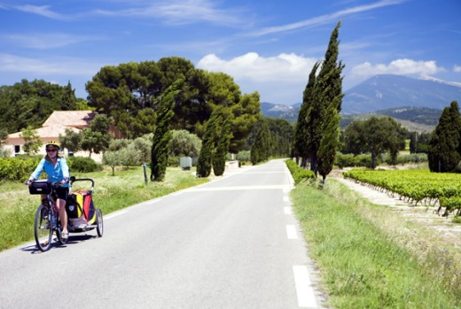 LUBERON AND MONT VENTOUX, FRANCE. Tackling hilly Luberon with a touring load might seem crazy, but several hundred ...