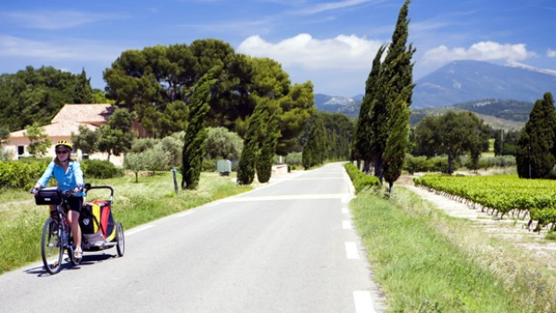 LUBERON AND MONT VENTOUX, FRANCE. Tackling hilly Luberon with a touring load might seem crazy, but several hundred kilometres of well-signed bike paths render it very enjoyable, as do ancient Roman ruins, medieval chateaux and ambrosial wines.