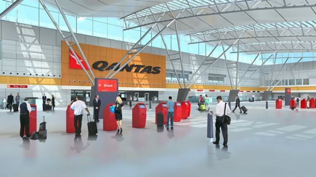 Qantas and check-in   Alan Joyce   Airport of the Future ...