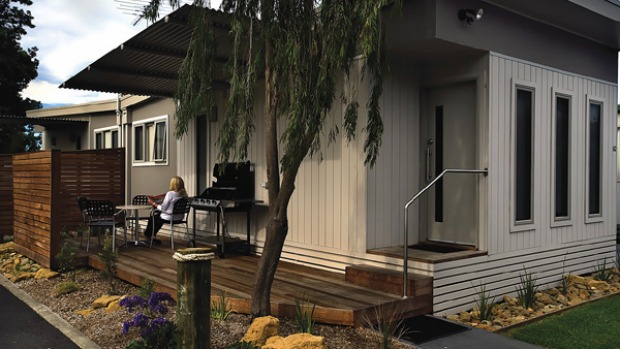 Glamping ... modern cabins bring a new level of comfort.