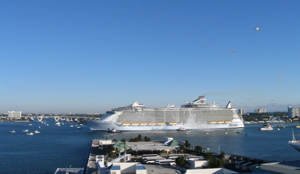 Oasis of the Seas, the world's largest and most expensive cruise ship, arrives at its new home port in Fort Lauderdale, ...