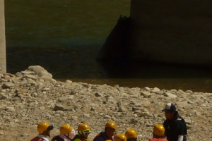 Go team ... Naerincheon River rafting lessons.