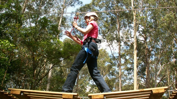 Go ape ... there are 76 challenges at the TreeTop Adventure Park.