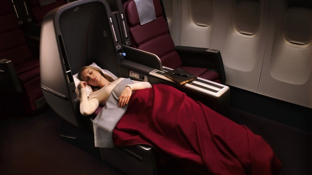 Lie-flat beds, like those found on board the Qantas A380's business class, are one ingredient that makes flying more ...