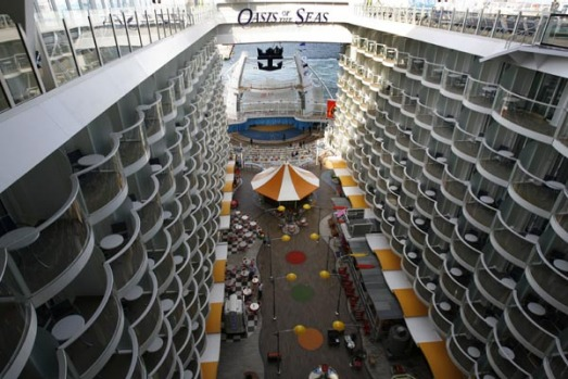 The world's largest cruise ship, the Oasis of the Seas will set sail for its debut voyage in the Caribbean on December 1.