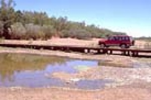 The original low level crossing at Fitzroy Crossing