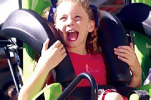 Wheee! ... theme-park thrills.