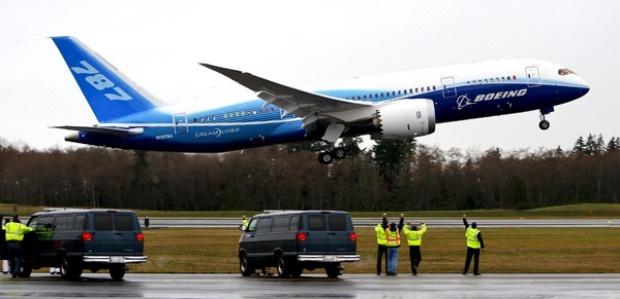 Boeing's new 787 Dreamliner jet took to the skies for the first time in December 2009, in a critical milestone for the ...