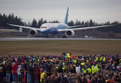Boeing's new 787 Dreamliner jet has taken to the skies for the first time, in a critical milestone for the ...
