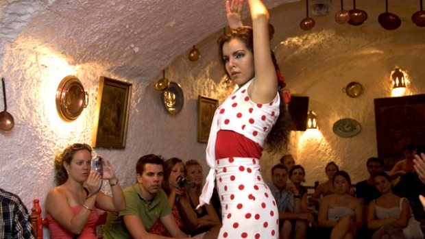 Flamenco dancing in Andalucia. Being part of a group can be fun.