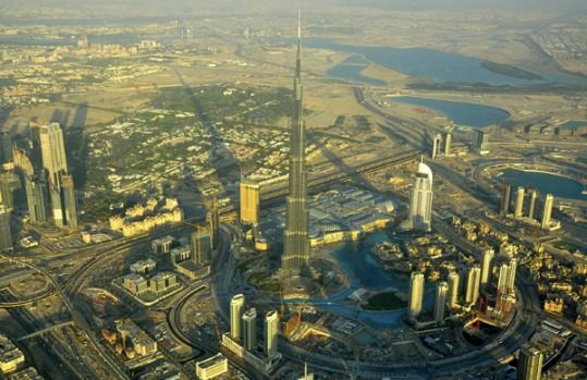 Burj Dubai: It takes about two minutes to get to the summit on some of the fastest elevators in the world, which travel ...