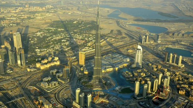 Burj Dubai: It takes about two minutes to get to the summit on some of the fastest elevators in the world, which travel at up to 40 kilometres per hour.
