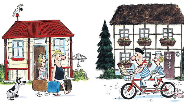 Home exchange is a great way to see the world while avoiding expensive hotels, but do your research. Illustration: John ...