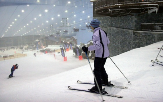 The Mall of the Emirates, opened in 2005 and famous for Ski Dubai, the world's largest indoor ski slope.