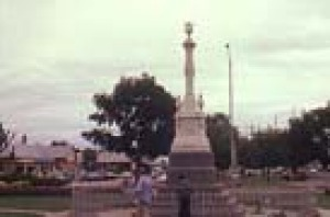 Monument to Constables Lonigan, Scanlon and Kennedy - all killed by Ned Kelly's gang near Stringybark Creek.