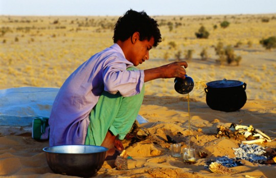 5. SAHARA DESERT. There's no such thing as a quick cuppa in the North African desert. For local nomads, tea drinking ...