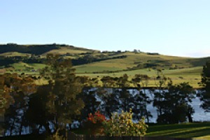 View from the top ... verdant Gerringong.