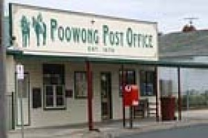Poowong Post Office in the main street