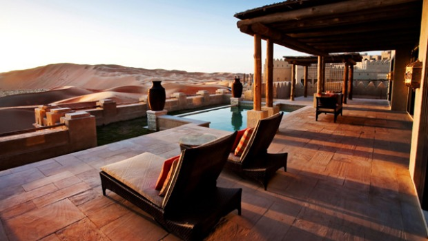 Beached ... desert views from the Qasr Al Sarab resort's villas.