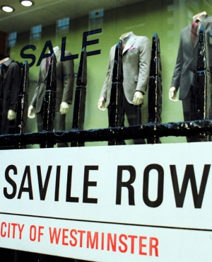 Suits you ... Savile Row is the home of bespoke tailoring.