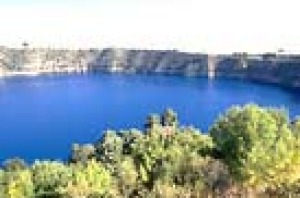 The Blue Lake from Lions Lookout