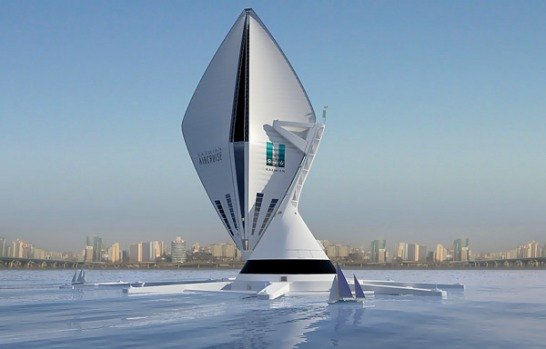 Design company Seymourpowell has unveiled a new transport concept, the Aircruise  - a giant, vertical airship powered by ...