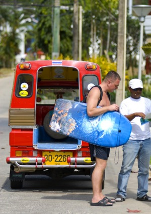 Seeing red ... tourists pay 10 times more for tuk-tuks in Phuket than in Bangkok.