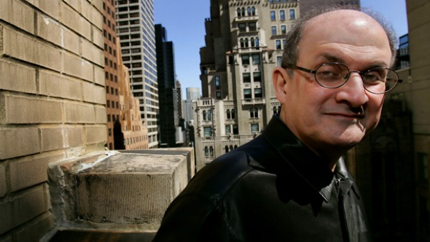 Book nooks ... Salman Rushdie in New York.