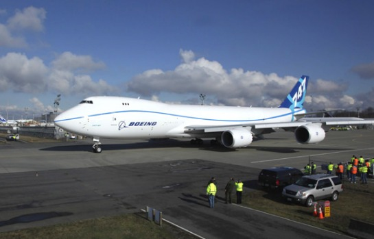 Boeing launched the 747-8 plane on November 14, 2005, with firm orders for 18 747-8 Freighters.