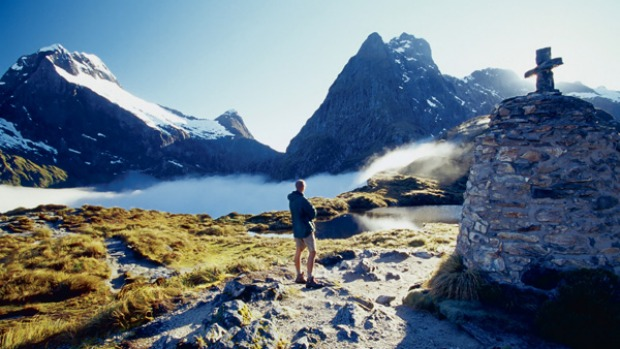 Jaw-dropping ... walking the Milford Track.