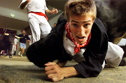 6. RUNNING WITH THE BULLS, PAMPLONA, SPAIN. Ever since Ernest Hemingway popularized the event, running with the bulls ...